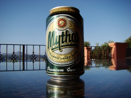 It should be a crime not to drink Mythos when in Greece.